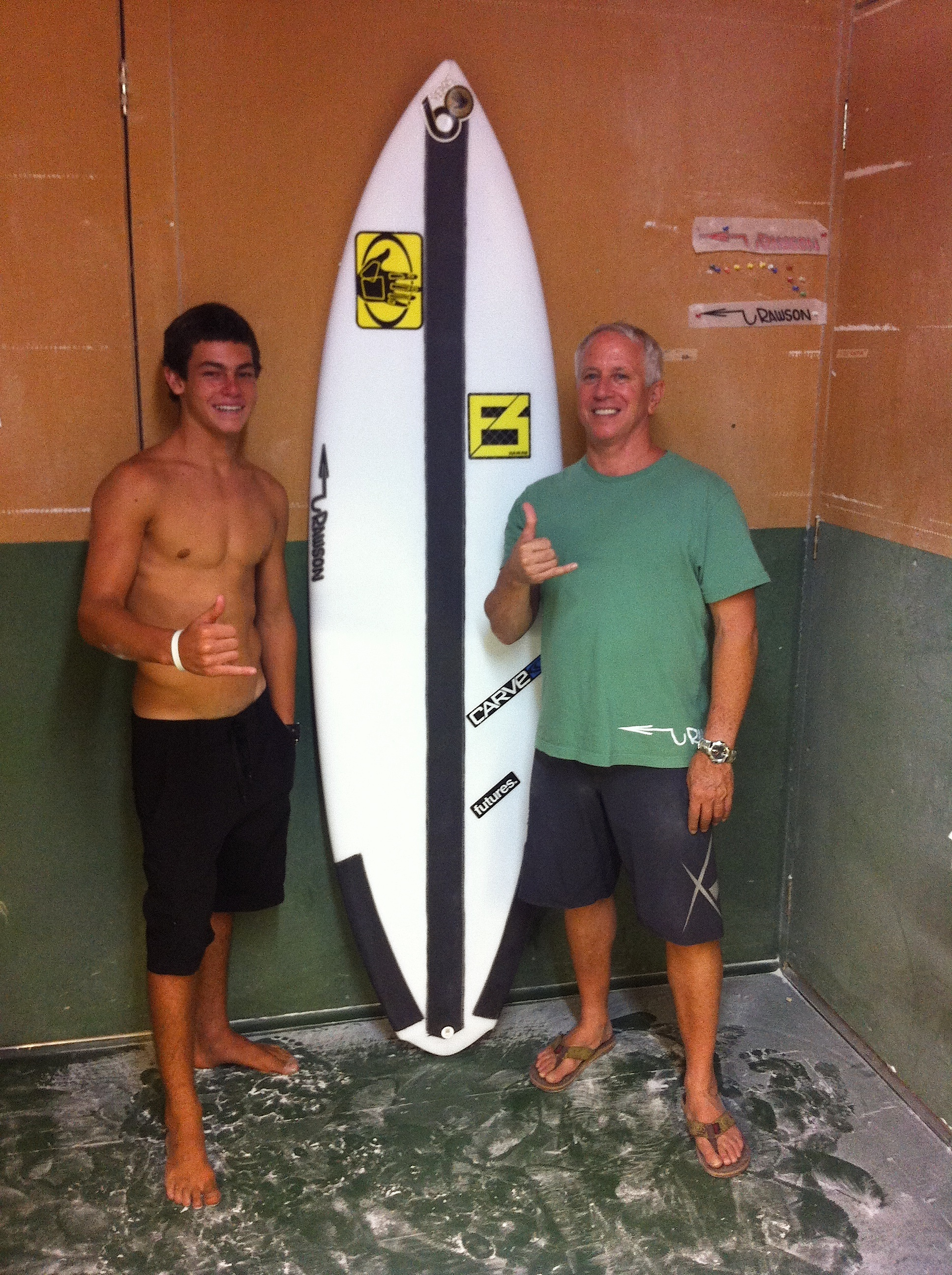 Pat and Mo- 7'4 SUP for surf